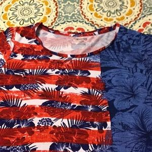 Women's Red, White, and Blue Top